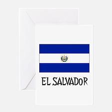 El Salvador Flag Greeting Card