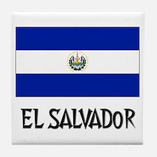 El Salvador Flag Tile Coaster