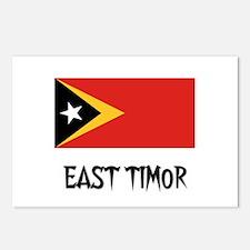 East Timor Flag Postcards (Package of 8)