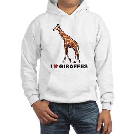 I Love Giraffes Hooded Sweatshirt