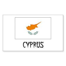 Cyprus Flag Rectangle Decal
