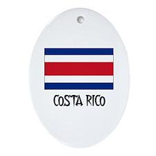 Costa Rico Flag Oval Ornament