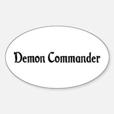 Demon Commander Oval Decal