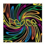 Peace Signs Tile Coaster