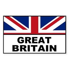Great Britain United Kingdom Rectangle Decal