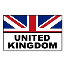 United Kingdom Great Britain Rectangle Decal