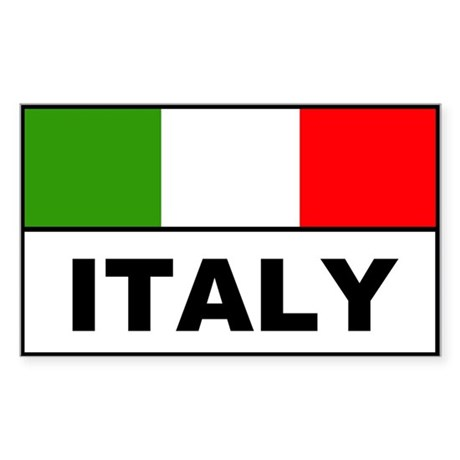 Italy italian flag banner Rectangle Sticker