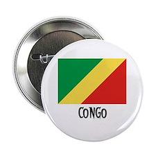 """Congo Flag 2.25"""" Button"""