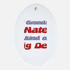 Grandson Nate - Big Deal Oval Ornament