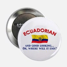 "Good Lkg Ecuadorian 2 2.25"" Button"
