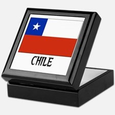 Chile Flag Keepsake Box