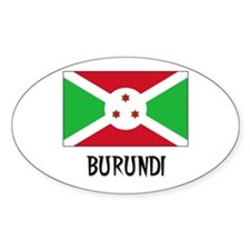 Burundi Flag Oval Decal