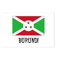 Burundi Flag Postcards (Package of 8)