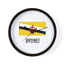 Brunei Flag Wall Clock