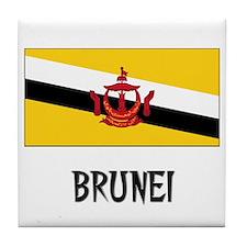 Brunei Flag Tile Coaster