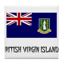 British Virgin Islands Flag Tile Coaster