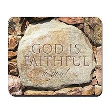 Christian Mousepad - God is faithful to you