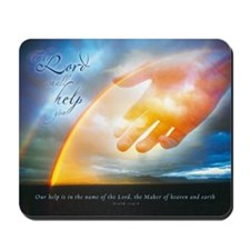 Christian Mousepad - The Lord shall help you
