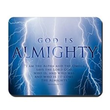 Christian Mousepad - God is almighty
