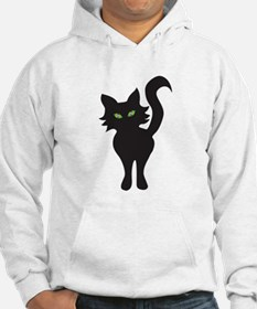 Front and Back Black Cat Hoodie