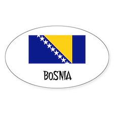 Bosnia Flag Oval Decal