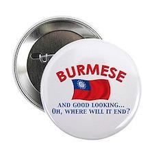 "Good Lkg Burmese 2.25"" Button"