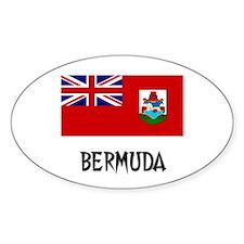 Bermuda Flag Oval Decal