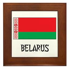 Belarus Flag Framed Tile