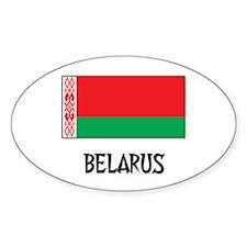 Belarus Flag Oval Decal