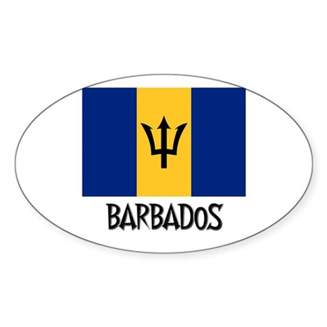 Barbados flag oval decal by nationality for Barbados flag coloring page