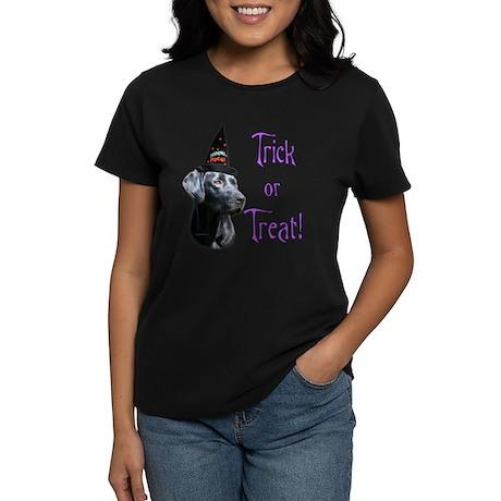 Black Lab Trick Women's Dark T-Shirt