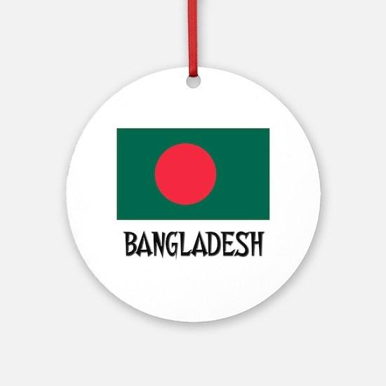 Bangladesh Flag Ornament (Round)