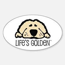 Life's Golden Oval Stickers