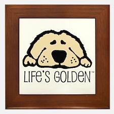 Life's Golden Framed Tile