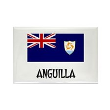 Anguilla Flag Rectangle Magnet (10 pack)