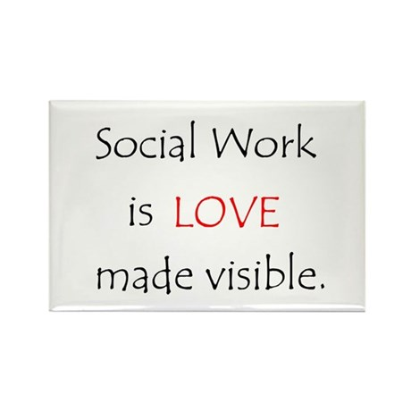 Social Work is Love Rectangle Magnets (10 pack)