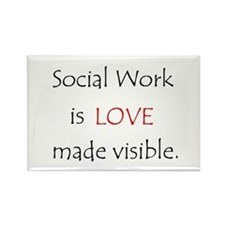 Social Work is Love Rectangle Magnet