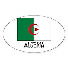 Algeria Flag Oval Decal