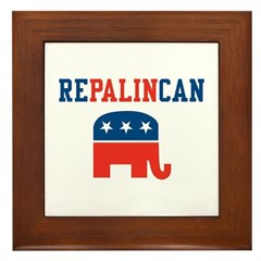 Vice President Sarah Palin Framed Tile