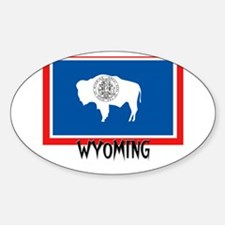 Wyoming Flag Oval Decal