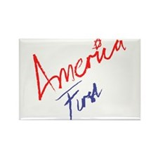 America First Rectangle Magnet