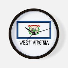 West Virginia Flag Wall Clock