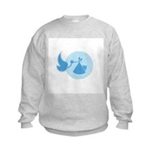 Stork and Baby Blue Sweatshirt