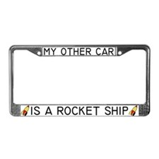 Rocket License Plate Frame