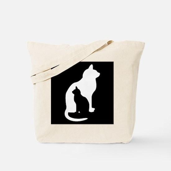 Feline Silhouettes Tote Bag