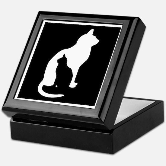 Feline Silhouettes Keepsake Box