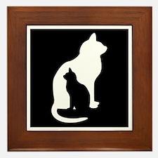 Feline Silhouettes Framed Tile