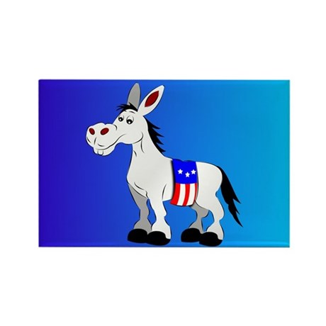 Democrat Donkey Rectangle Magnet