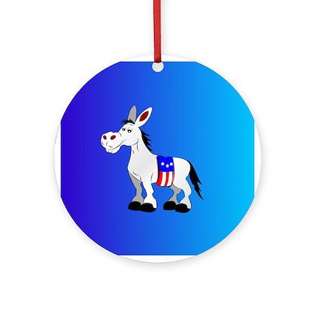 Democrat Donkey Ornament (Round)