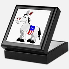 Democrat Donkey Keepsake Box